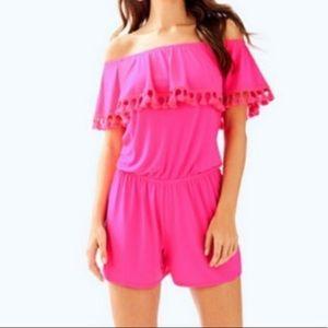 Lilly Pulitzer La Fortuna Pink Romper Size XXS
